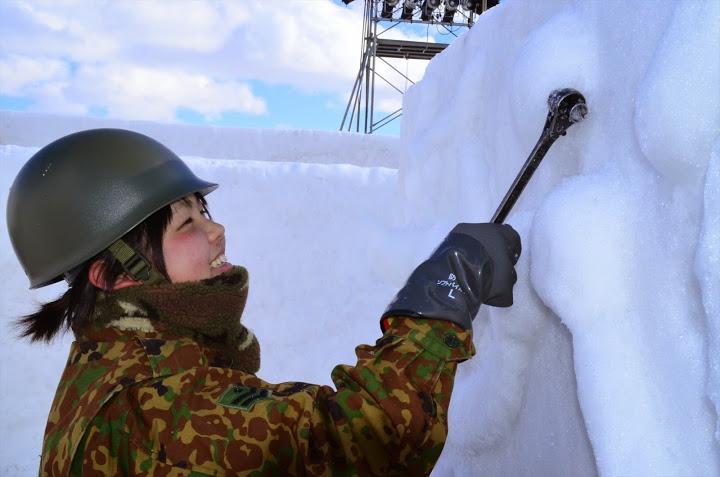 82_雪像の浮彫り(第48回いわて雪まつり雪像引渡し式)