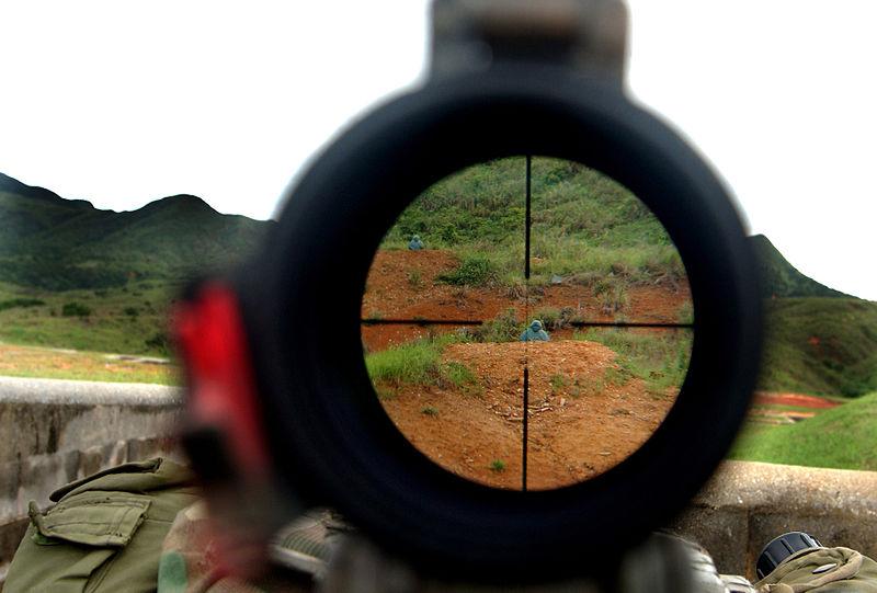 狙撃銃のスコープ